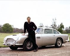 The 1965 Aston Martin DB5 that first appeared in the James Bond films Goldfinger and Thunderball is now up for sale for 5 million dollars. It comes complete with machine guns, revolving number plates and bullet-proof screen.