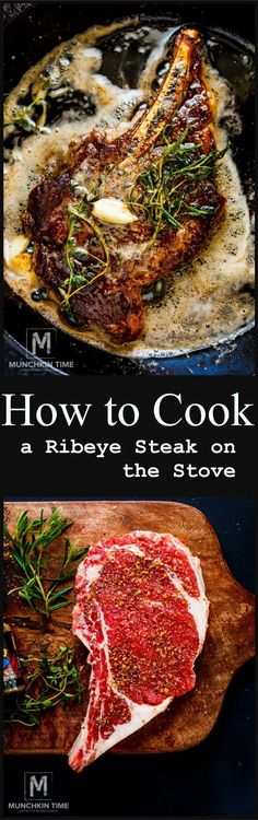 Awesome How to Cook a Ribeye Steak on the Stove – Easy step by step Recipe! The post How to Cook a Ribeye Steak on the Stove – Easy step by step Recipe! appeared first on Fun Recipes . Beef Dishes, Food Dishes, Steak Recipes, Cooking Recipes, Fun Recipes, Steaks, How To Cook Ribs, Good Food, Yummy Food