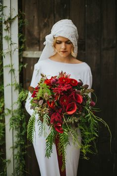 Fabulous Floral Creations From Our 'RockStar Florists' Competition Entrants! Cascading Wedding Bouquets, Cascade Bouquet, Wedding Flowers, Gatsby Wedding, Red Wedding, Wedding Flower Inspiration, Marie, Floral Design, Weddings
