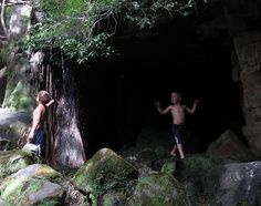 Waterfall Cave My boys Brian and Michael having fun at the Mountain Sanctuary Park. My Boys, South Africa, Cave, Waterfall, Have Fun, Mountain, Concert, Caves, Waterfalls