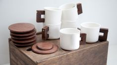 Porcelain Espresso Cups by Merge