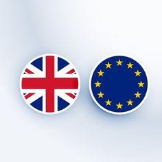 Reino Unido e símbolo União Europeia e emblemas