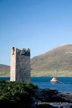 Kildavnet castle, Achill Island, Co Mayo, Ireland.