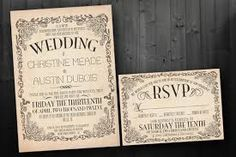 Image result for moulin rouge wedding invitations
