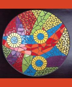 Mosaic stepping stone by christina carrera