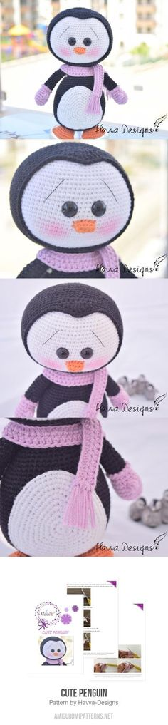 This post was discovered by Tiffany R. Discover (and save!) your own Posts on turkrazzi. Crochet Penguin, Crochet Art, Crochet Gifts, Cute Crochet, Crochet Animals, Crochet Dolls, Knit Or Crochet, Crochet Toys Patterns, Amigurumi Patterns