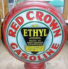 Red Crown ethyl gas pump globe
