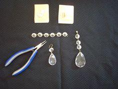 DIY for magnetic chandelier crystals