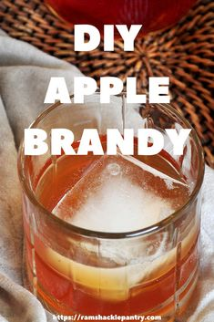 Make a beautiful Fall cocktail with this Homemade Apple Brandy recipe. Fall flavors that are reminiscent of Apple Pie and a smooth, sweet, sipping drink. Homemade Brandy Recipe, Homemade Alcohol, Homemade Wine, Homemade Apple Pies, Brandy Cocktails, Summer Cocktails, Vodka And Pineapple Juice, Vodka Lime, Amigurumi
