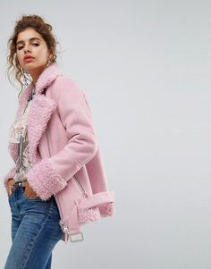 H! by Henry Holland H! By Henry Holland Oversized Faux Shearling Jacket