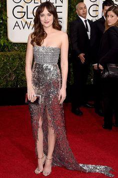 'Fifty Shades of Grey' Stars Jamie Dornan & Dakota Johnson Smolder at the Golden Globes - Yahoo TV