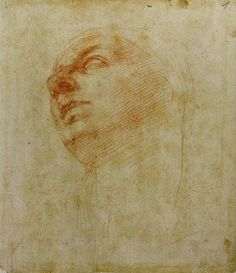Michelangelo Buonarroti, Study for the head of the Madonna for the 'Doni Tondo' (1506)