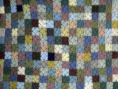"""mouse notebook: """"not matter the long pause...""""- odds-and-ends blanket, crochet idea"""