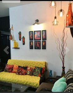 Inspiring Indian Home Design Ideas. Indian home design ideas must be unique and interesting ideas to apply inside your home. The different cultures of India is … Indian Home Design, Indian Bedroom Design, Indian Interior Design, Modern Bedroom Design, Living Room Seating, My Living Room, Living Room Decor, Ethnic Home Decor, Indian Home Decor