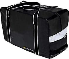 Easton EQ Pro Carry Bag [SENIOR] by Easton. $29.99. Eastons EQ Pro carry bag offers players a traditional-type bag design, with a single main compartment, thick shoulder straps, and easy to use functionality. Its simple and to the point, and does away with gimmicks that shout look at me. Made from Pro grade Tarpaulin, a hard-wearing waterproof canvas fabric, the EQ Pro will stand up to the rigors of being tossed around from locker room to locker room. A massive mai...