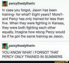 And in one of those years, percy just sat around waiting for beckondorf to give the signal to invade the ship and start the war