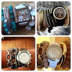 IT'S FRIDAY!!! LET'S HAVE A PARTY!!! (An ARM PARTY that is.. at 8:15 in the morning too! Haha.) Ummm, yeah... So I heart these combos! Like A LOT. I think I need an arm party intervention. (Sound the sirens ladies! Your crazy jewelry lady just got crazier!!!)