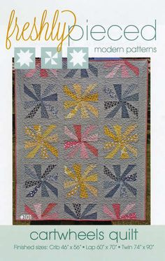 With practically no seams to line up, this pattern is perfect for beginning paper-piecers! All you have to do is sew on the line, and you'll have a perfect quilt in no time! This five-page pattern inc