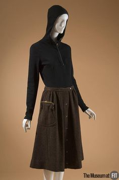 t's New York Week: Bonnie Cashin ensemble. Blouse: Fall 1966 | Skirt: 1961. #FashionCapitals Collection of The Museum at FIT