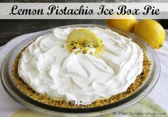 Lemon Ice Box Pie  - A Perfect Spring Dessert #recipe #dessert #12bloggers