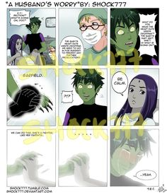Hope you don't mind a little cliffhanger!D drama-no-jutsu is about to be brought! Rae and BB(C) Glen Murakami and DC comics Ready or not pg 1 Part Wel. Teen Titans Love, Original Teen Titans, Teen Titans Starfire, Raven Beast Boy, Bbrae, Old Shows, Marvel Dc Comics, Held, Anime Couples