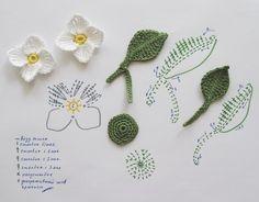 Watch The Video Splendid Crochet a Puff Flower Ideas. Wonderful Crochet a Puff Flower Ideas. Crochet Puff Flower, Crochet Leaves, Knitted Flowers, Crochet Flower Patterns, Flower Applique, Crochet Designs, Appliques Au Crochet, Crochet Motifs, Crochet Diagram