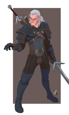 Geralt of Rivia by Ypslon