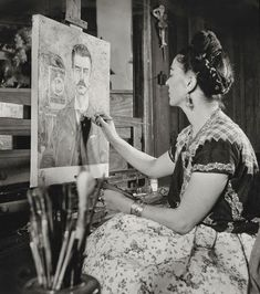 Frida Kahlo left her mark on the city where she was born in 1907 and lived with Diego Rivera until her death in Her home, the Casa Azul, is now a museum and pilgrimage site for many who consider the artist an early Mexican feminist Tina Modotti, Diego Rivera, Frida Kahlo Exhibit, Kahlo Paintings, Artist Birthday, Frida And Diego, Gifts For An Artist, French Photographers, Portrait
