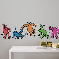 Untitled (Five Dancing Figures), Keith Haring, Homestickers Collector