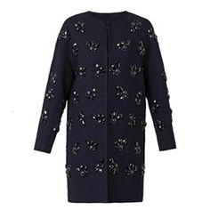 pinned by melike_melisita Isabelle coat Diane Von Furstenberg, Cool Coats, Vegan Leather Jacket, Embroidered Jacket, Outerwear Women, Mantel, Beautiful Outfits, Polyvore, Women Wear
