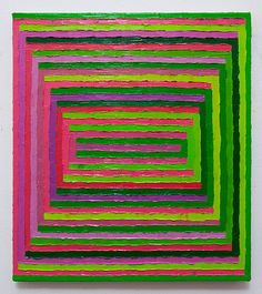 "TODD CHILTON: Pink and Green Combs, 2011   oil on linen, 18"" x 16"""