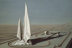 Surreal & dreamlike...   Kay Sage, American, (1898-1963) / In the Third Sleep / 1944 / oil on canvas