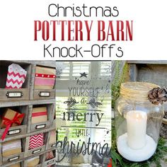 What will make your Holiday Season more Merry and Bright! A collection of Christmas Pottery Barn Knock-Offs...fantastic Holiday DIY Project you will adore!