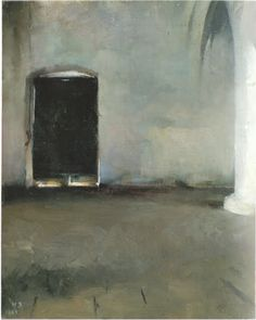 Helene Schjerfbeck: Ovi / The Door. Oil painting created in Brittany, Exhibition at Retretti curated by Riitta Konttinen. Helene Schjerfbeck, Helsinki, Diablo Guardian, Female Painters, Light Of Life, Canadian Art, Girl Reading, Impressionism, Female Art