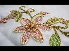 "ШОВ "" ШТОПКА"" \  Hand Embroidery: Checkered Flower Stitch - YouTube"