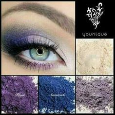 Check out these blending options with our mineral pigments! $12.50 for one or get a combo of 4 for $45! Its a great deal. Don't forget if you spend $130 you get a free eye primer! This wouldd make the mineral pigments POP! youniqueproducts.com/KarinJuarez