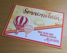 """Einfach mal abheben am Geburtstag. Mit dem Stempelset """"Abgehoben"""" von Stampin up. Melanie@Stempelengel.de"""