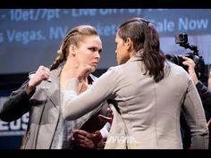 MMA Ronda Rousey vs. Amanda Nunes UFC 207 Staredown Video