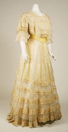 Evening dress Date: 1903–4 Culture: Austrian Medium: silk
