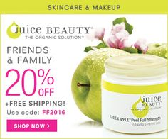 JuiceBeauty.com Friends & Family Sale