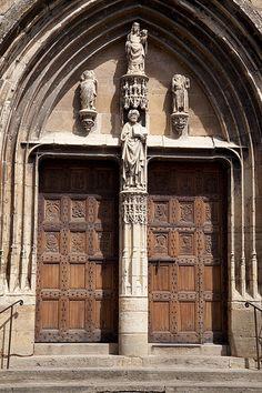 France, Aveyron, Saint-Côme d'Olt France, Arches, Saint, Gate, Windows, Doors, Stairs, Puertas, Portal