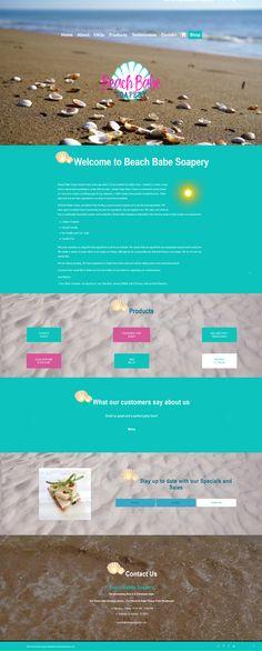Website for soapery company Service Awards, Beach Babe, Web Design, Website, Creative, Design Web, Website Designs, Site Design
