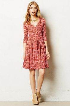 Relevations Knit Dress - Anthropologie $128. Love this dress. Add a jean jacket and it's casual. Add heels and it's good for a work meeting or even a wedding.