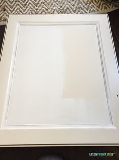 Tips and trick on how to paint thermofoil cabinets (or even laminate) to make it adhere! Step-by-step instructions to getting beautiful painted cabinets! Melamine Cabinets, Mdf Cabinets, Laundry Cabinets, Painting Cabinets, Painting Laminate, Kitchen Cabinets, Laundry Room, Painting Station, Painting Tips