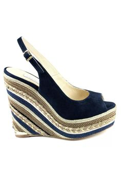 Paloma Barcelo Blue Navy Suede PALOMA BARCELO' Wedge