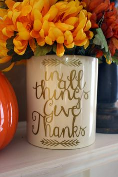 Give Thanks ~ Free Silhouette Cut File | Pinafores & Pinwheels