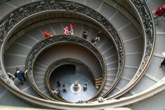 Vatican Museums, the way out stairs