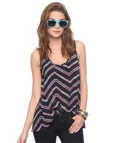Colored Chevron Stripes Tank