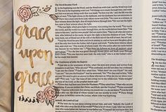 """John 1:16 """"For from his fullness we have all received grace upon grace."""" #biblejournaling #biblebeauty #illustratedfaith #bibleverse"""