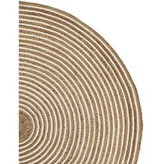 Serena & Lily Round Cotton & Jute Rug Swatch ($10) ❤ liked on Polyvore featuring home, rugs, neutral area rugs, jute area rugs, textured rugs, circular rug and round rugs